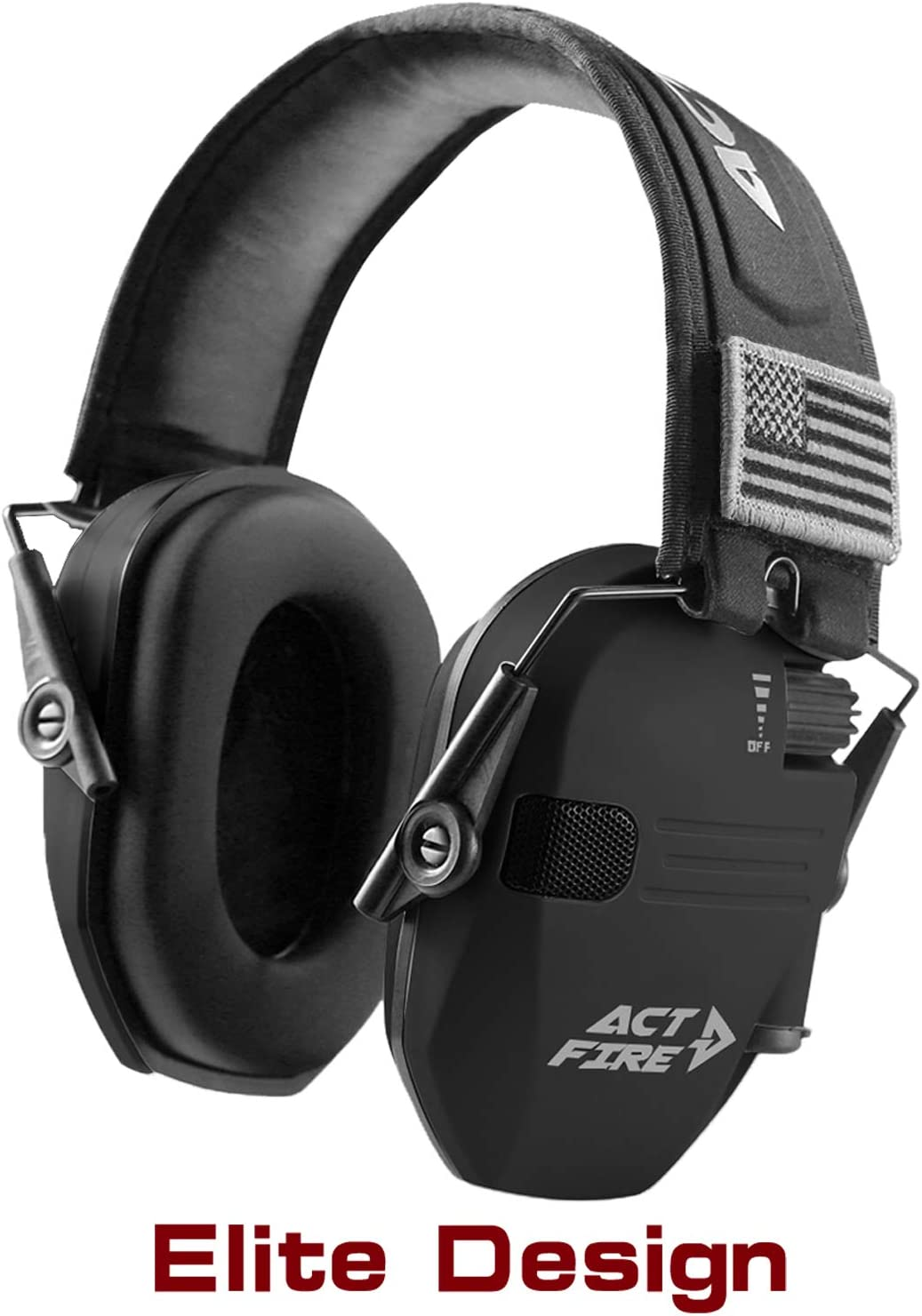 ACT FIRE Shooting Earmuffs, Electronic Ear Protection for Gun Range, Elite Combat Design