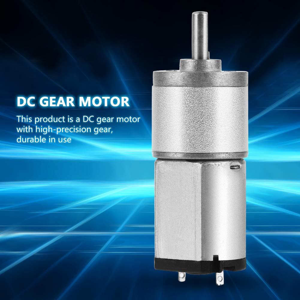 12V 1# Motor Adaptado de reducci/ón de Velocidad Reversible de Alto par de 16GA030 DC 6V Zetiling Motor Adaptado
