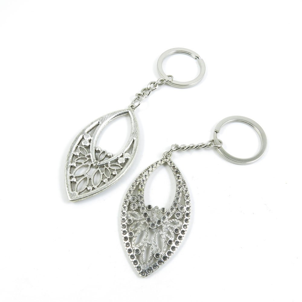100 Pieces Keychain Door Car Key Chain Tags Keyring Ring Chain Keychain Supplies Antique Silver Tone Wholesale Bulk Lots H3KT1 Ear Drop by WOWGAME2009 KEYRING