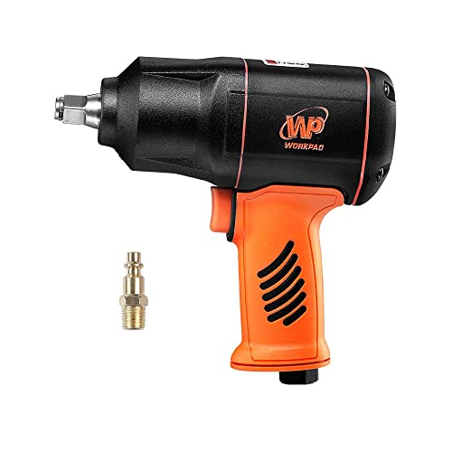 WORKPAD 1 2-Inch Composite Air Impact Wrench with Twin Hammers, Pneumatic Tools