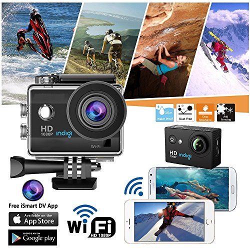 inDigi 4K Action Sports DV Camcorder for Outdoor Sports Extreme Wide Angle New! [ Waterproof Housing & Mounts Included! ]