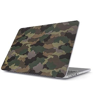 BURGA Funda para MacBook Pro 13 Pulgadas de 2016-2018, Modelo: A1989 / A1706 / A1708 con o Sin Touch Bar Tropicales Army Camuflaje Camo Military ...