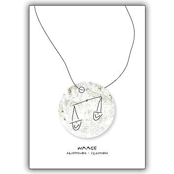 1 Geburtstagskarte: Horoskop Glückwunschkarte für alle die im