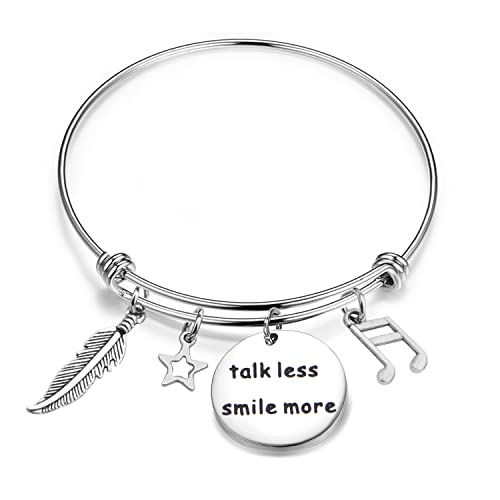 BNQL Hamilton Inspired Talk Less Smile More Bracelet Keychain Musical  Inspired Lyrics Jewelry Gift