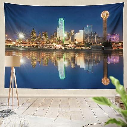 amazon com summor tapestry dallas skyline reflected trinity river
