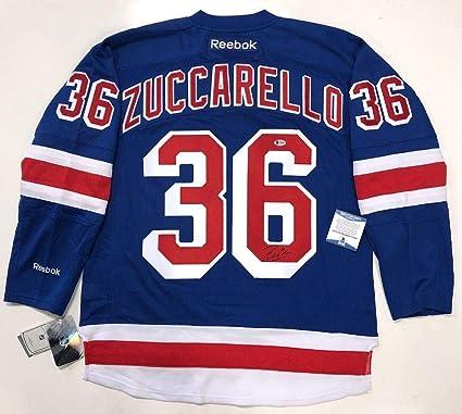 Mats Zuccarello Autographed Jersey - Beckett Coa F19446 - Beckett  Authentication 03b9846cd