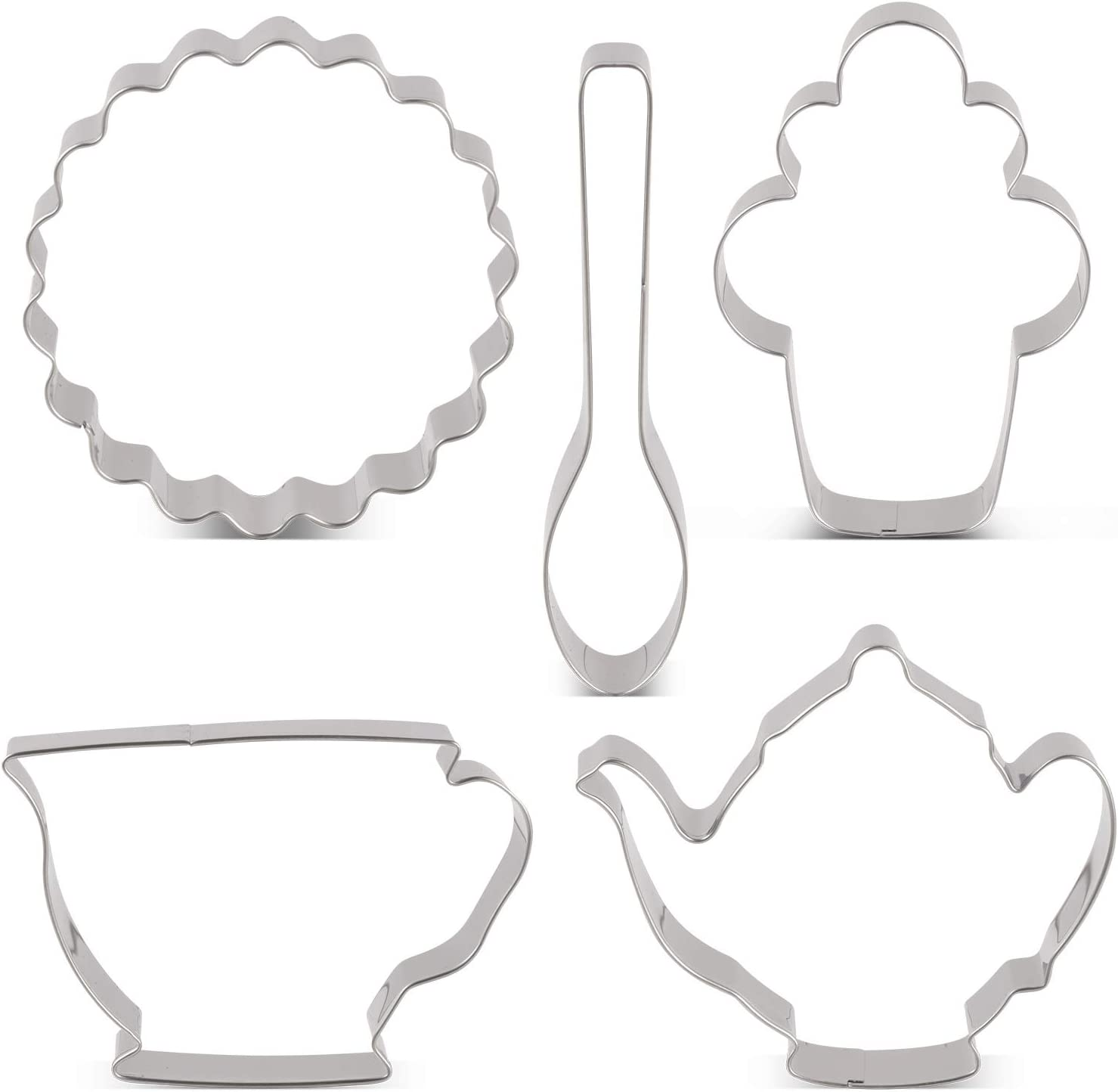 Teapot and Teacup Cookie Cutter Set