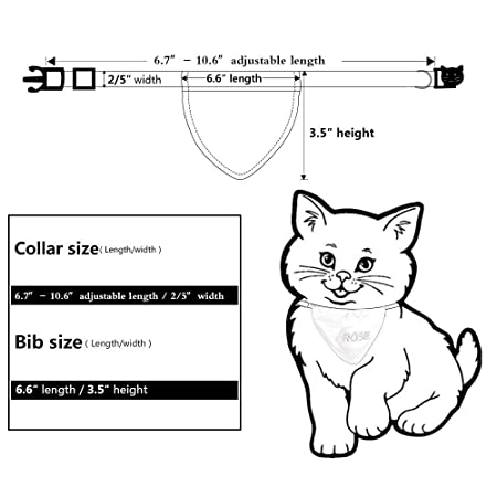 Amazon.com: DayDay Bandana personalizada para gato hecha a ...