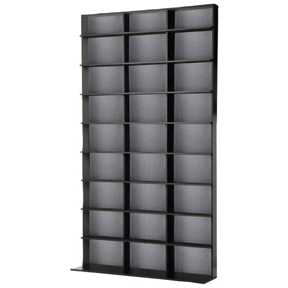 Atlantic Elite Media Storage Cabinet - Large Tower, Stores 837 CDs, 630 Blu-rays, 531 DVDs, 624 PS3/PS4 games or 528 wii games with 9 Fixed Shelves, PN35435742 in Black by Atlantic