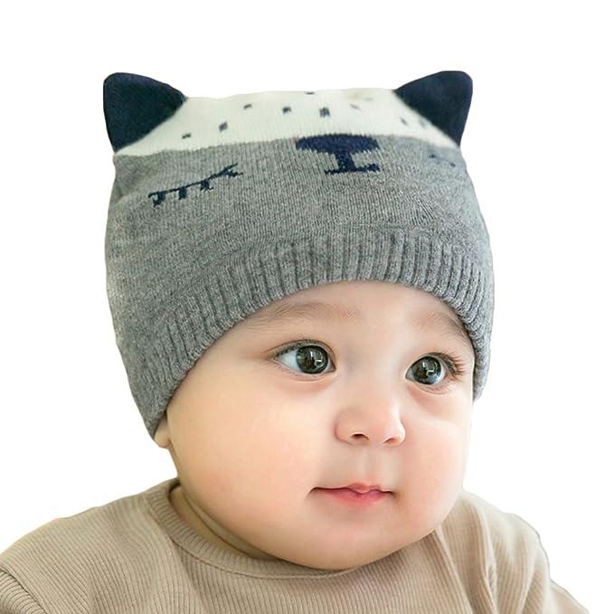 ... Berretto Cappello Invernale a Maglia Bambini Infantili del Bambino  Cappello del Crochet per 0-5 Anni Ragazzi e Ragazze  Amazon.it   Abbigliamento fd04b1fb2261