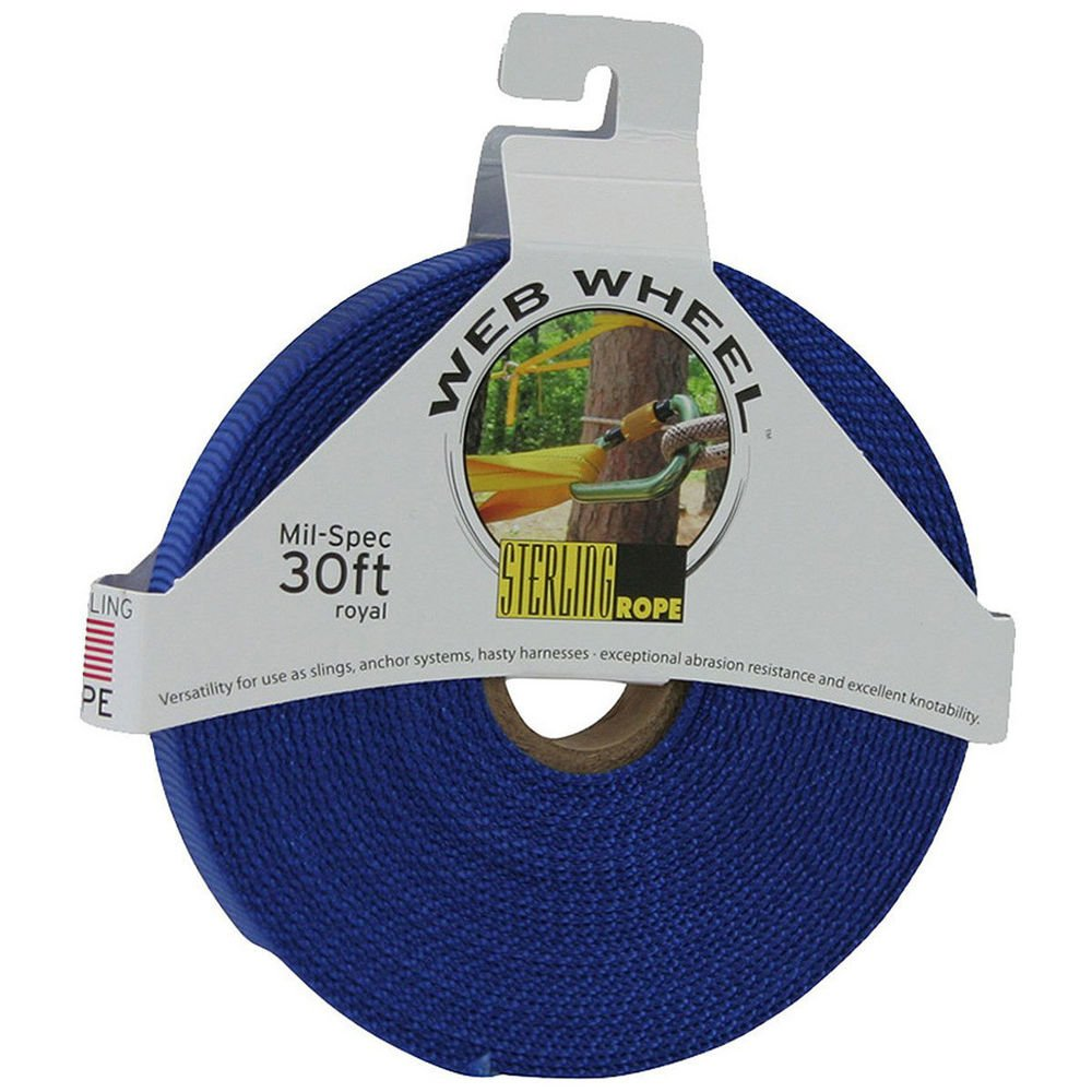 STERLING 1'' TechTape Web Wheel 30' Royal Blue One Size by Sterling