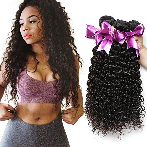 Dream Like Malaysian 10A Kinky Curly Virgin Hair 4 Bundles (18 20 22 24inch) 100% Unprocessed Virgin Human Hair Bundles Curly Hair Weaves 100g/pc Natural Color from Dream Like