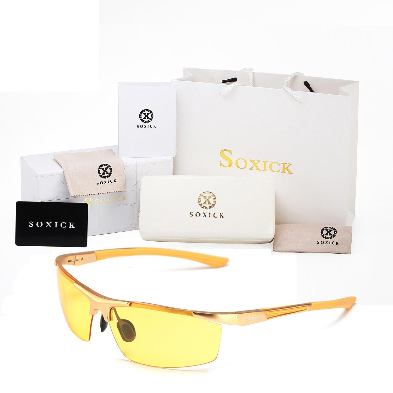 soxick HD Metall Night Driving Brille polarisierte Sport Sonnenbrille SLKDDURr