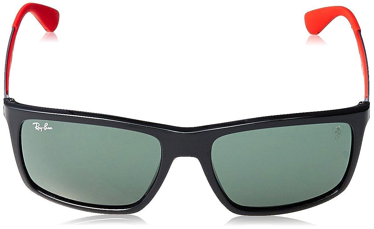 Ray-Ban Mens RB4228M Scuderia Ferrari Collection Rectangular Sunglasses