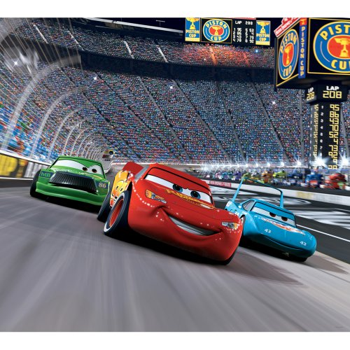 Blue Mountain Wallcoverings DMM2517 Cars Race Track Self-Stick Mini Wall Mural 31.625-Inch (Disney Cars Mural)