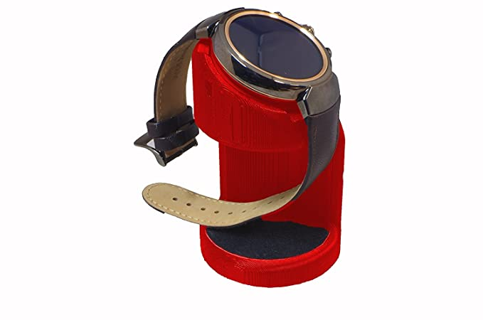ASUS ZenWatch 3 Stand, Artifex Charging Dock Stand for ZenWatch3, New 3D Printed Technology, Smartwatch Cradle (Red)