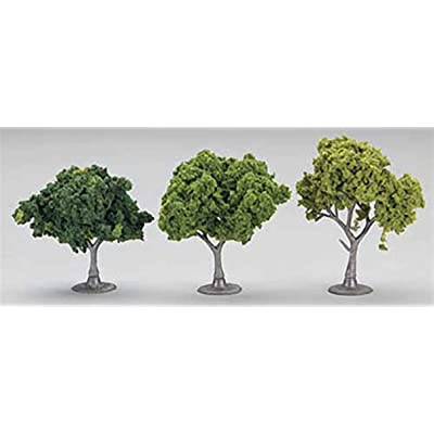 "Woodland Scenics Green Deciduous Value Pack Ready Made Trees 2"" - 3\"": Toys & Games [5Bkhe0702789]"