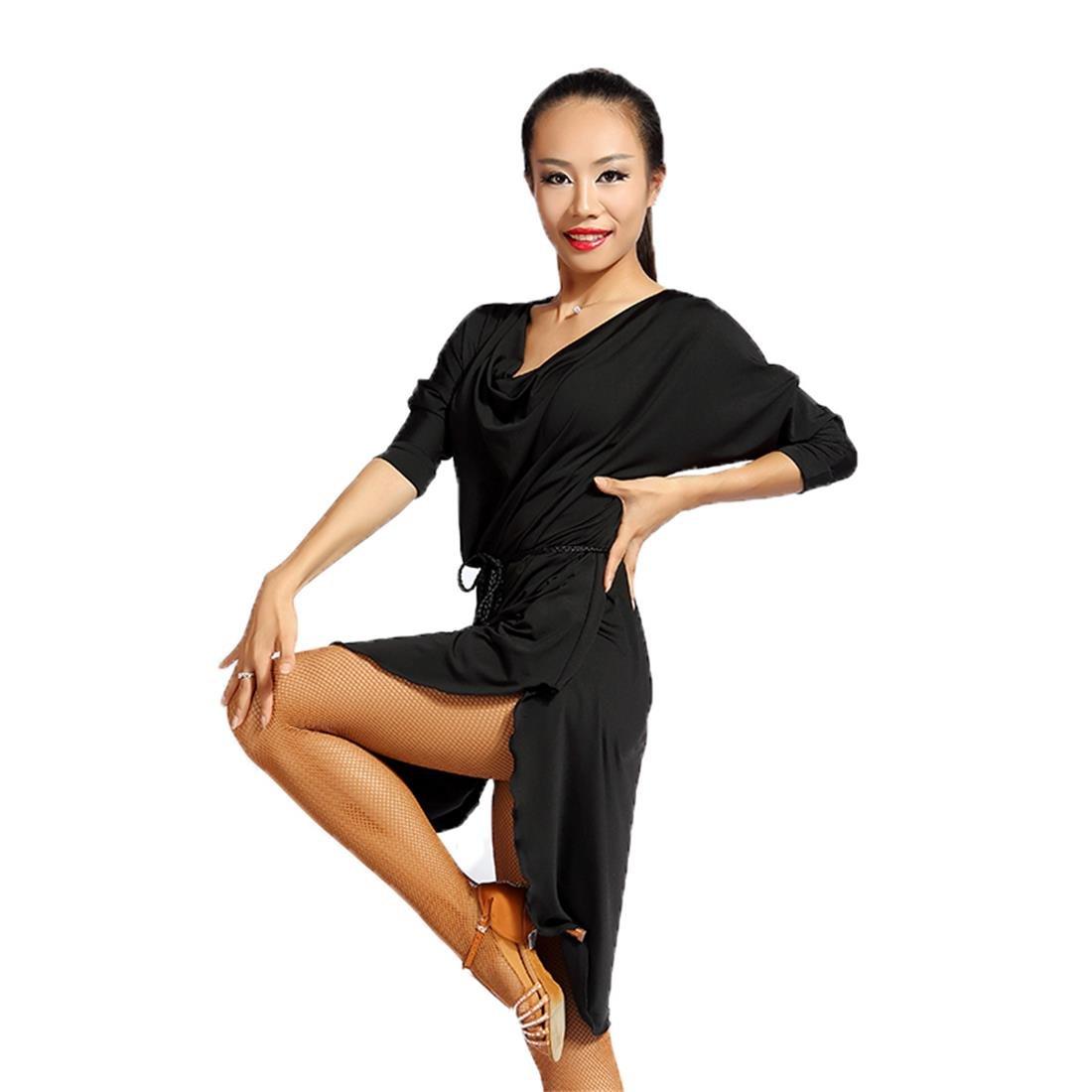 SCGGINTTANZ G1007 latino latine moderno Moderna ballo da Danza professionale Versioneampia e comoda abito(Design del bordo curvo) (free-size, (FBA) grey) GloriaDance