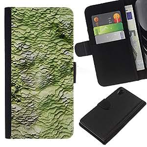 KLONGSHOP // Tirón de la caja Cartera de cuero con ranuras para tarjetas - Primavera Naturaleza Modelo abstracto - Sony Xperia Z2 D6502 //