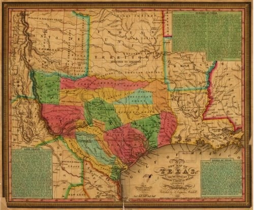 New Map Of Texas.Amazon Com 1835 Map New Map Of Texas With The Contiguous American