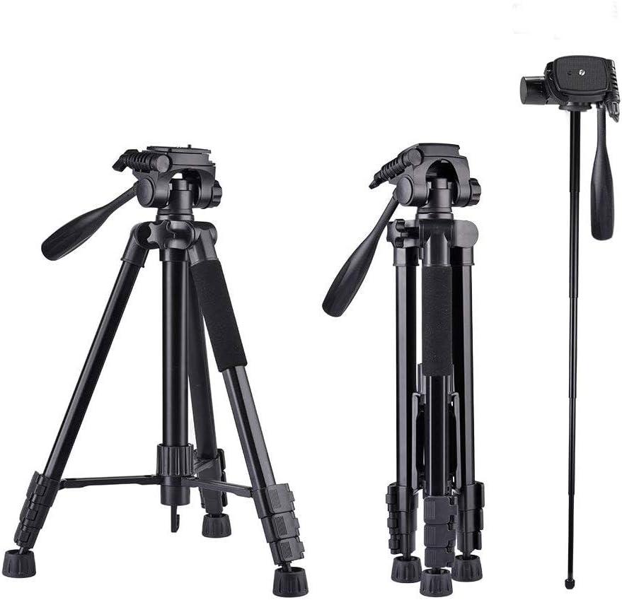 160cm Trípode Cámara, 5 en 1 Aluminio Trípode para Cámara Ajustable 4 Secciones Patas con Rótula de Bola 360 Grados, Universal para Canon Nikon Sony y Teléfono: Amazon.es: Electrónica
