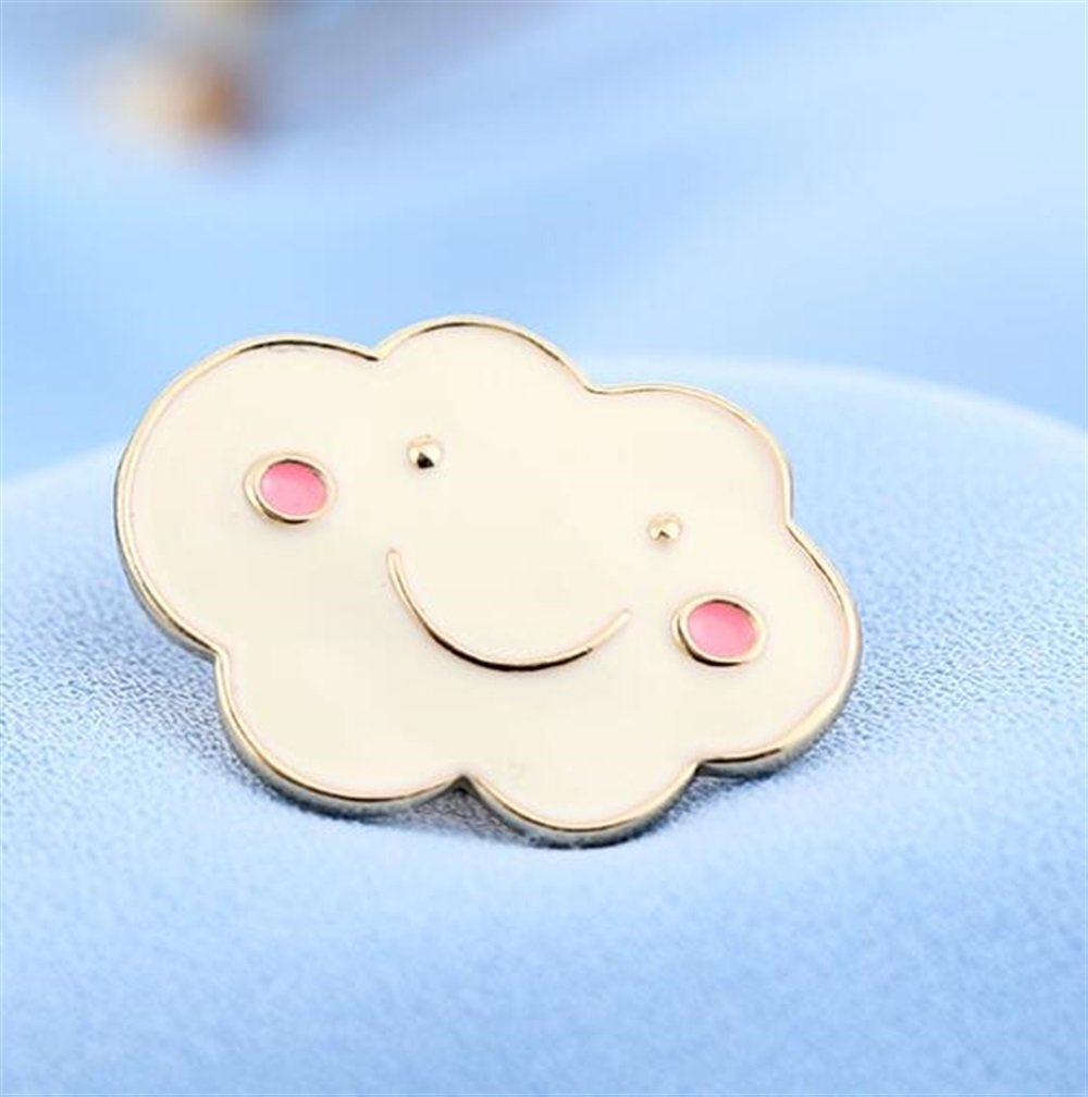 SunnyGod Botones Insignias Decoración Delicados broches de la Nube ...