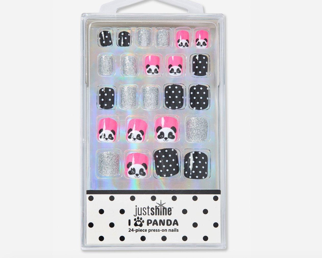 Amazon.com : Justice Girls Press-on Nails Panda : Beauty