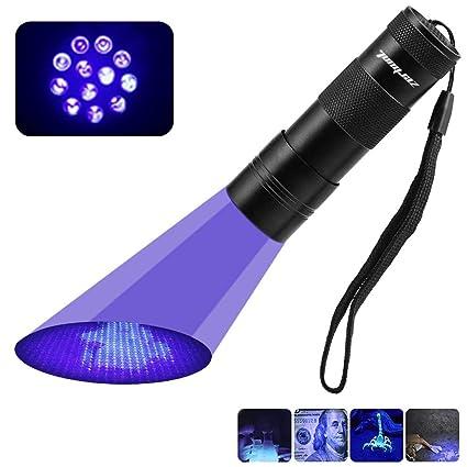 Amazon Com Black Light Uv Flashlight 12 Led Uv Light Ultraviolet