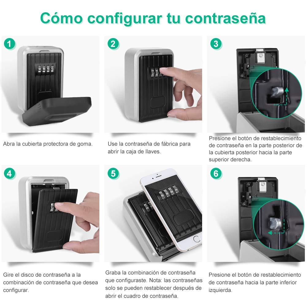 Key Lock Box Funda para Llaves para Uso Externo YISSVIC Caja de Seguridad con Llave