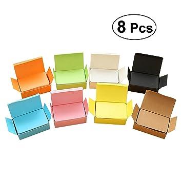 Toymytoy 8 Pcs Papier Kraft Note Cartes De Visite Colore Study Memo Rayures Bloc