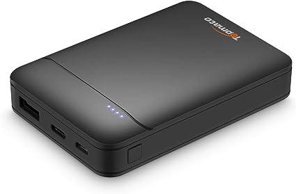TopMate Power Bank Caricabatterie Portatile 10000mAh Mini Batteria Esterna | 1 Micro e 1 Ingresso di Tipo C 2.1A | Uscita Smart USB 2.4A | Batterie di