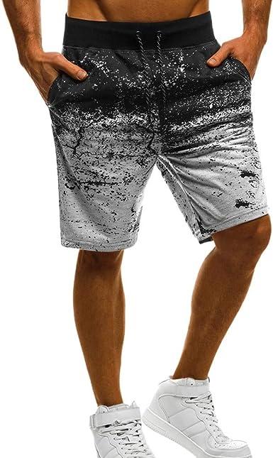 Pantalón De Chándal Casuales Hombre Jogger Pantalones Cortos ...