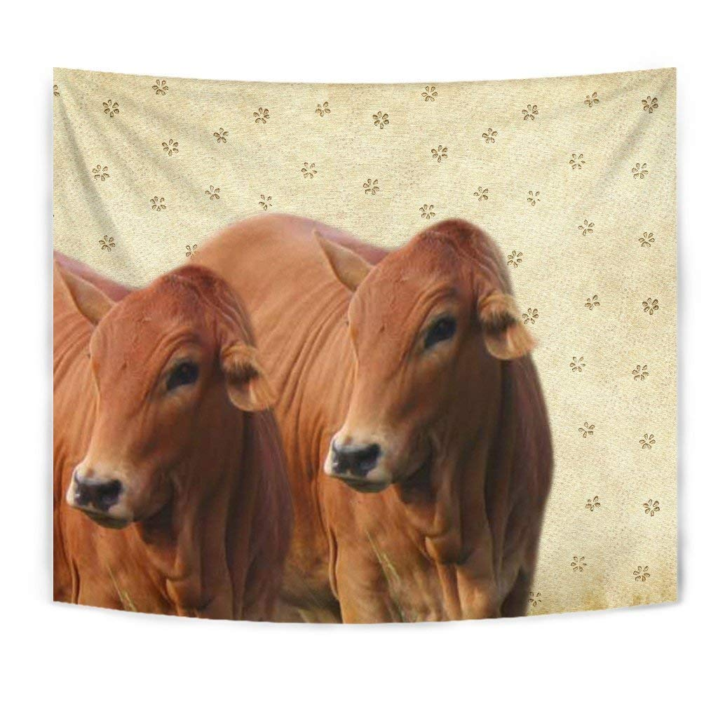 Boran Cattle (Cow) Print Tapestry by Breedink