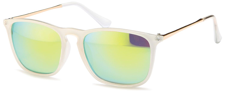 Transparente Sonnenbrille im angesagten Wayfarer Style mit verspielten Gläsern und bronzefarbenden Metallbügeln Brillentrends (türkis) JjtkS