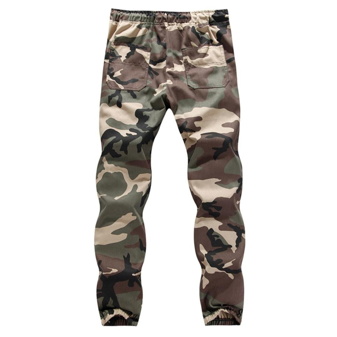 Baggy Sweatpants Vanvler Men Drawstring Pants Male Sportswear Camouflage Trousers