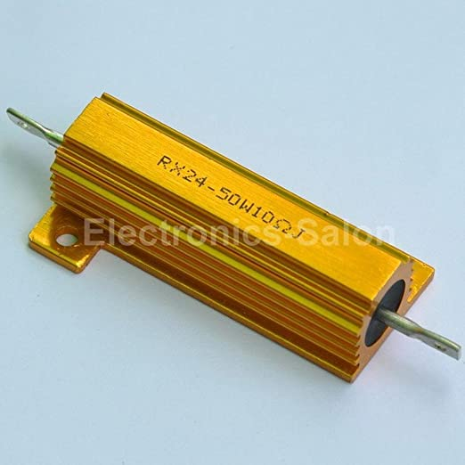 Electr/ónica-sal/ón 2 piezas 2 OHM 50 W bobinadas aluminio alojados resistencia.