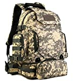 Cheap Eternal Heart Tactical Military MOLLE Backpack Pack 3 Way Molle Modular Attachments 40L Waterproof Bag Rucksack with Patch Sport Outdoor Gear (ACU)
