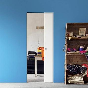 Puerta corredera Eclisse juego completo en la pared, grosor de la ...