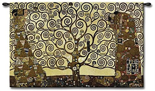 Stoclet Frieze Tree of Life Tapestry Wall Art by Charlotte Home Furnishings Inc.