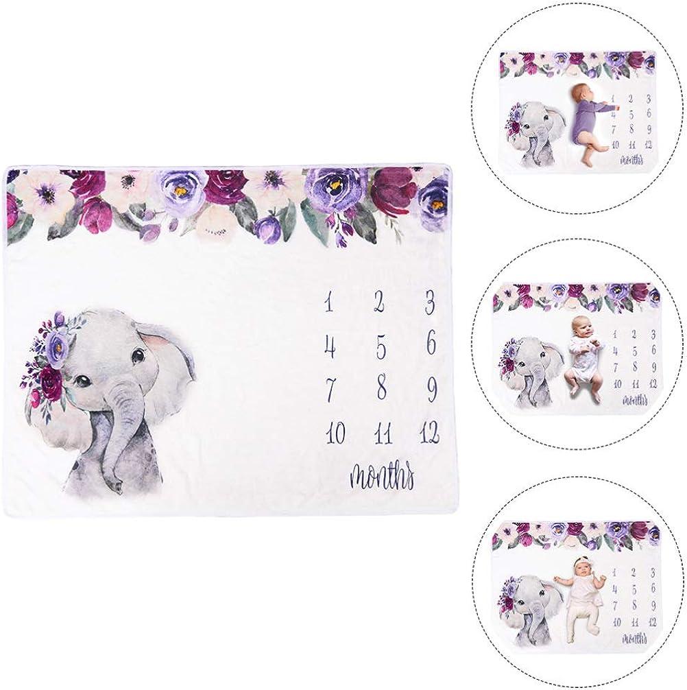 Artibetter Baby Monatliche Meilenstein Decke Elefant Monat Decke Baby Bilder Foto Decke Baby Hintergrund Foto Requisiten f/ür Neugeborene