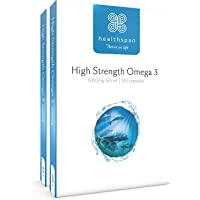 Healthspan Omega 3 1,000mg | High Strength | As Seen On Tv | 240 Capsules | 120Mg Dha & 170Mg Epa Per Capsule | Highly…