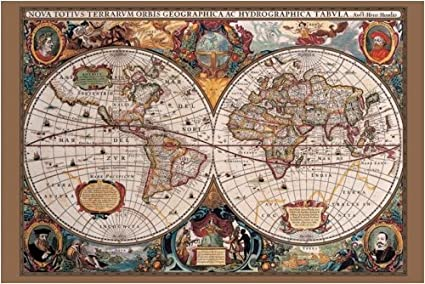 Amazon 17th century world map maxi poster posters prints 17th century world map maxi poster gumiabroncs Images