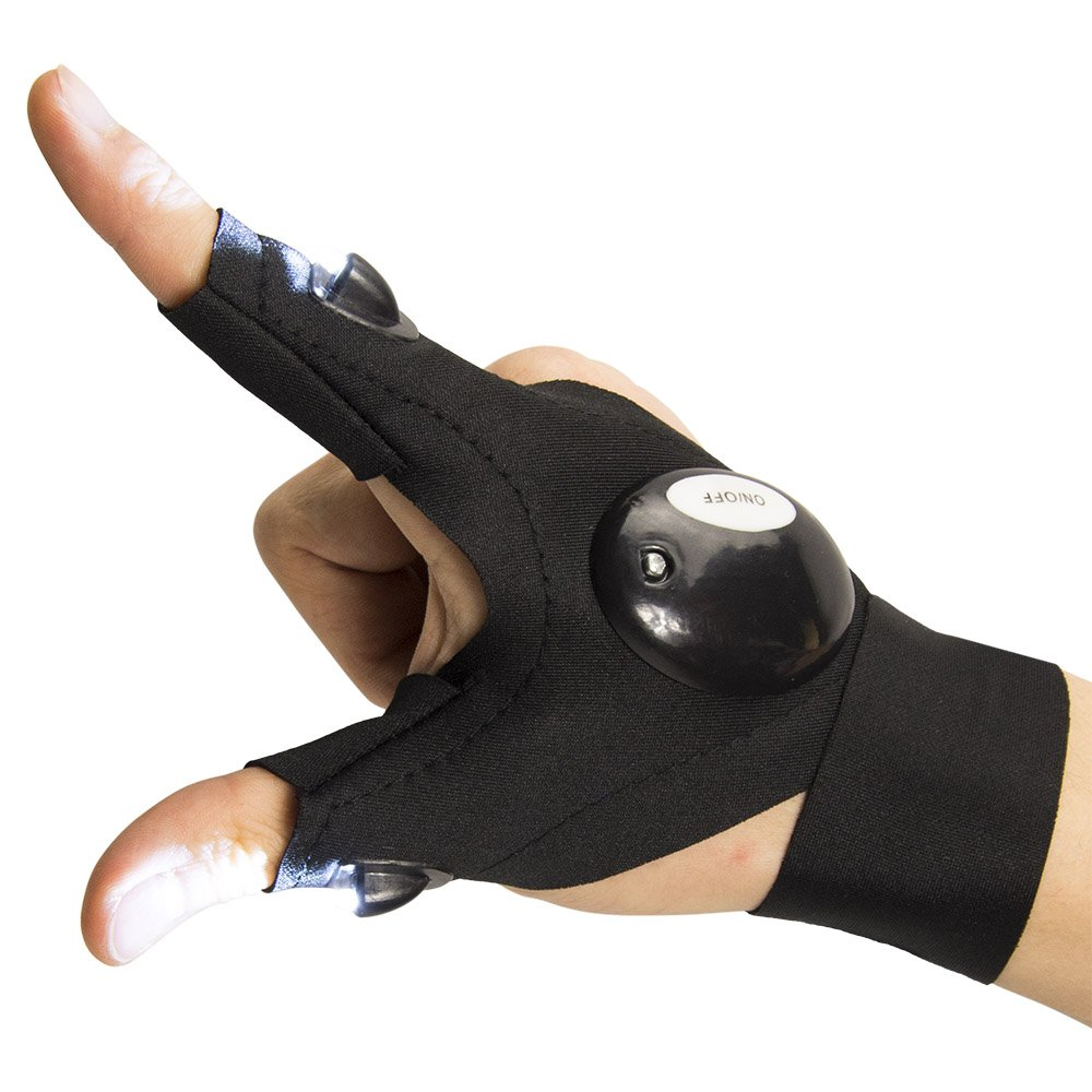 ThxToms LED Flashlights Gloves, Men/Women Tool Gadgets Gifts for Handyman, Fishing, Repair