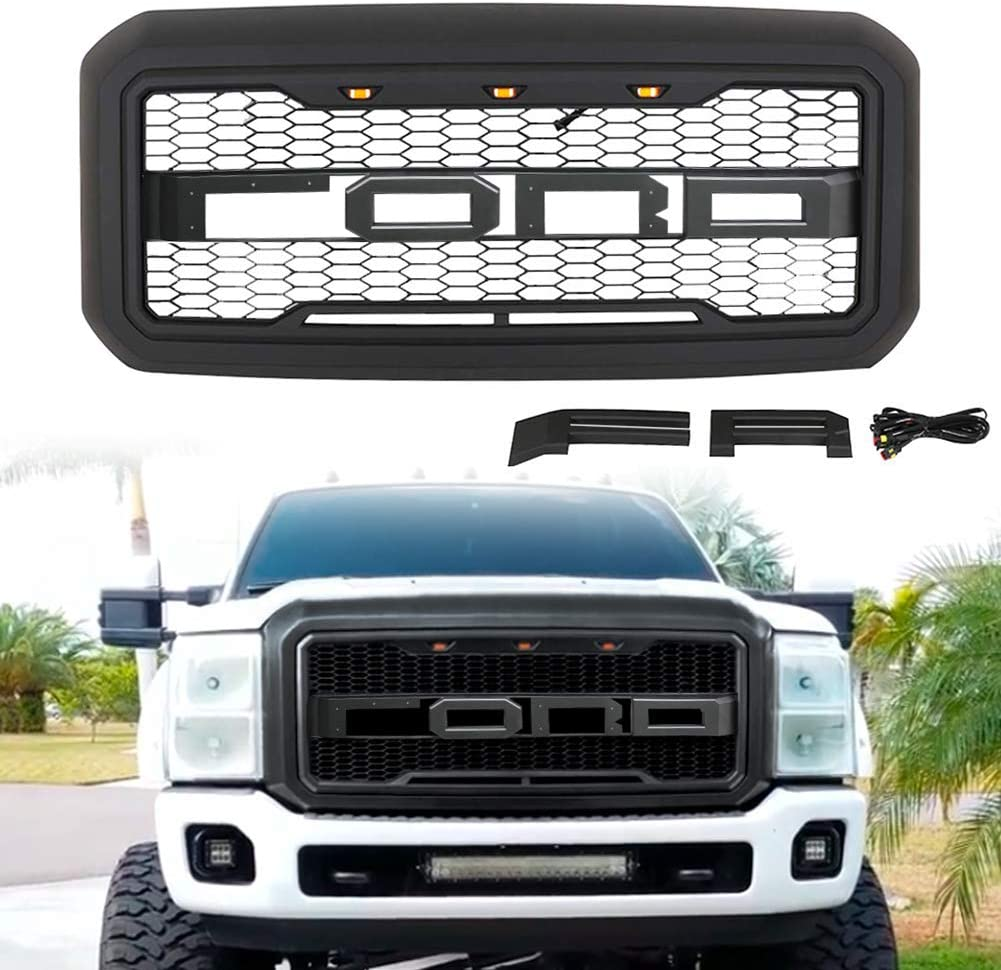 matte black 99 2004 f250 grille replacement for f 250 f 350 f 450 super duty raptor style grill grilles creche do re mi