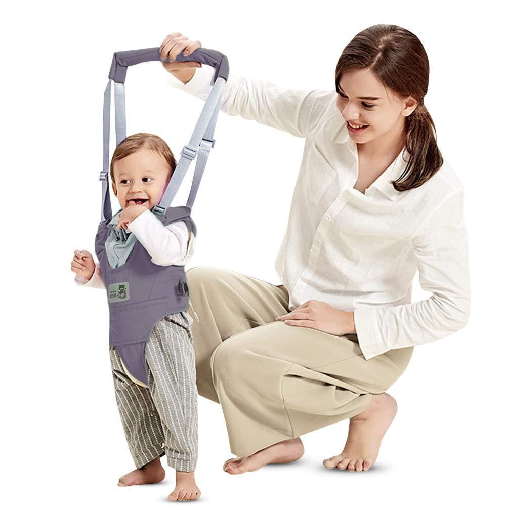 Arnés de Seguridad para Caminar Ajustable Arnés de Bebe a Pie de Caminado Aprendizaje Chaleco Arneses para Niños Andador Arnés Tirantes Con Correa y Hebilla de Bebé Protección 8-24 meses, Gris LifePlus