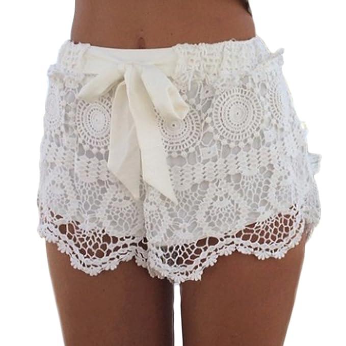 Mujer Vacaciones Cortos Verano Pantalones Elegantes Fashion Casual fb6vYy7g