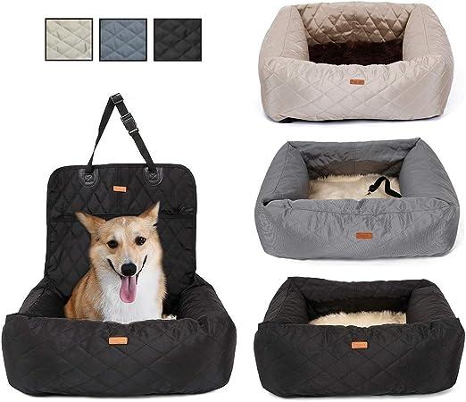 simptech 2 en 1 Pet Car Booster Asiento Cama para Perros, Impermeable, Viaje, Mascota, Bolsa de Transporte para Coche, Perro, Protector de Asiento, para Perros pequeños, Gatos, Cachorros: Amazon.es: Productos para mascotas