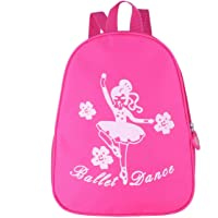 Children's Backpacks Kids Girls Shoulder Bag Lovely Dancing Girl and Flower Printed Ballet Dance Bag Students Schoolbag Gym Backpack Children Birthday Gift