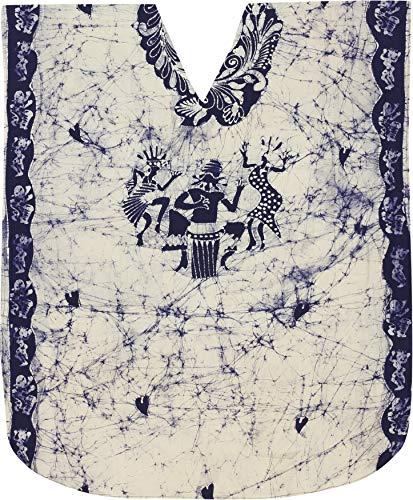 LA LEELA Batik Caftans for Women Long Kaftan Sleepwear Blue_Y153 OSFM 14-18W