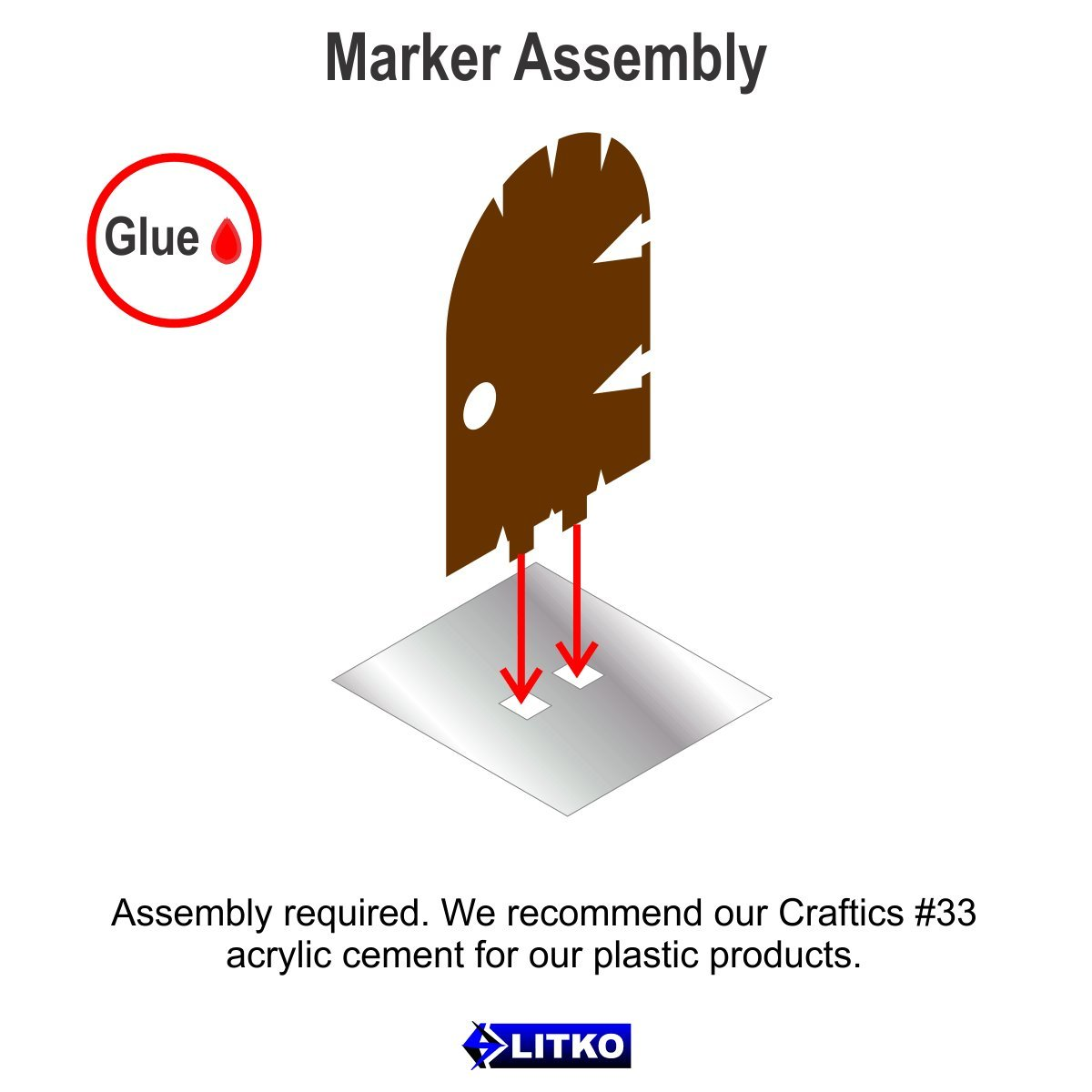 Brown 5 Litko Game Accessories Medium Door Markers